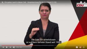 Wahlprogramm der CDU in DGS
