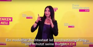 Wahlprogramm der FDP in DGS