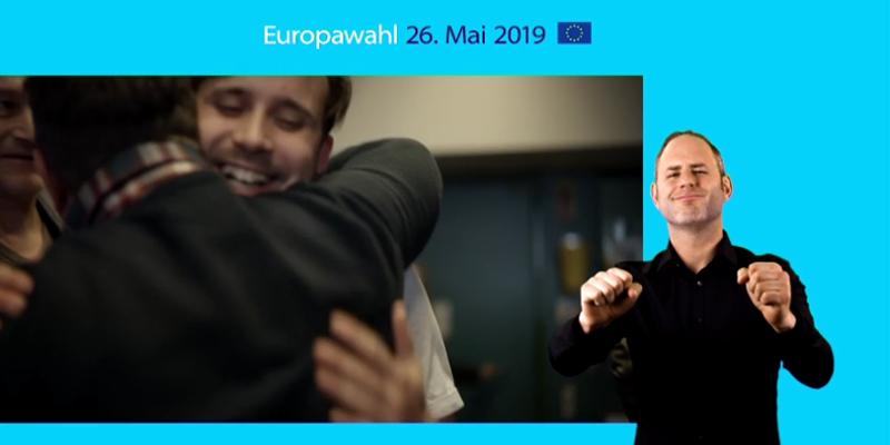 Infos zur Europawahl in Gebärdensprache