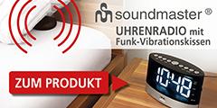 soundmaster Uhrenradio mit Funk-Vibrationskissen